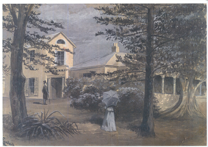 Painting of the house Clovelly in Watsons Bay