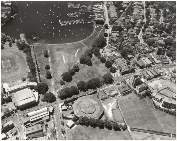 Aerial view of Sydney Stadium at Rushcutters Bay