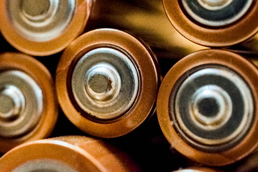 Batteries stacked together