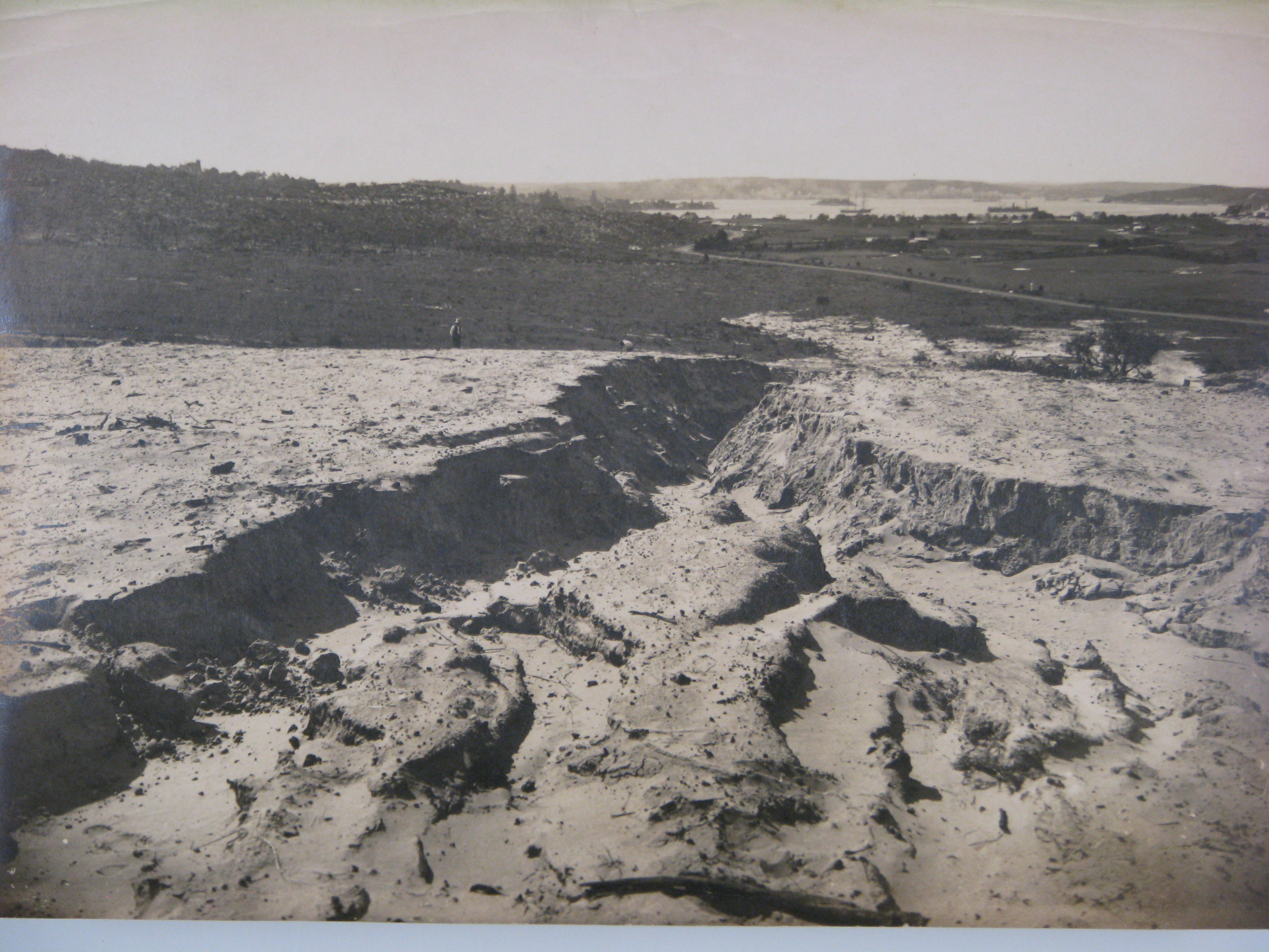 One of a series of photographs  taken of the construction of Birriga, Bundarra and Banksia Roads, and Benelong Crescent, formed as part of the Bellevue Hill Bondi Estate, a subdivision of the Point Piper Estate. Woollahra Libraries Digital Archive PF004648e