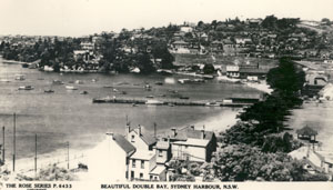 Postcard view of the Double Bay shoreline setting of Tueila