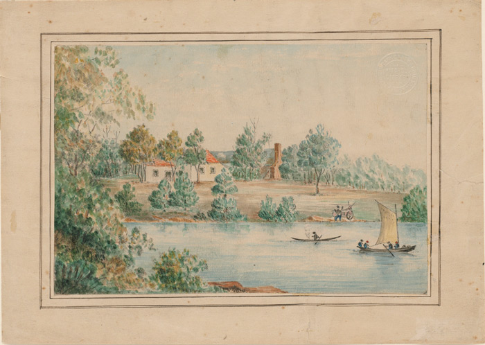 Painting of Captain Waterhouse's house