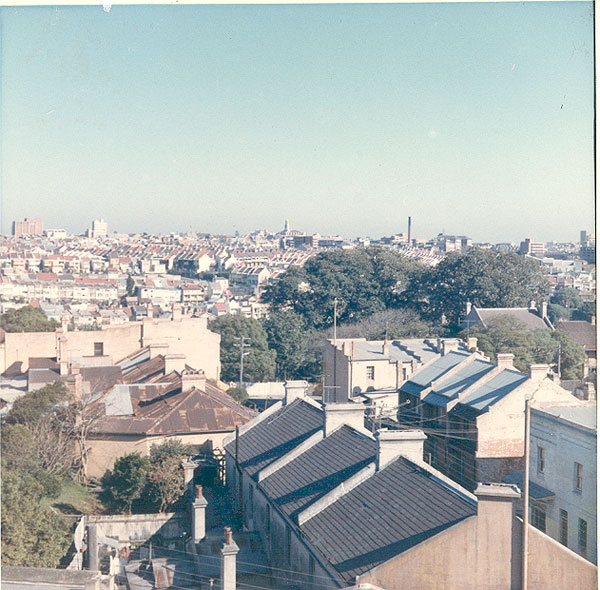 From an album of coloured photographs of Edgecliff dating from the mid 1960s - much of this area was extensively redeveloped during the 1970s with the construction of the Edgecliff Centre and the Edgecliff Interchange. Woollahra Libraries Digital Archive PF004610b.