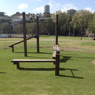 Rushcutters Bay Park equipment