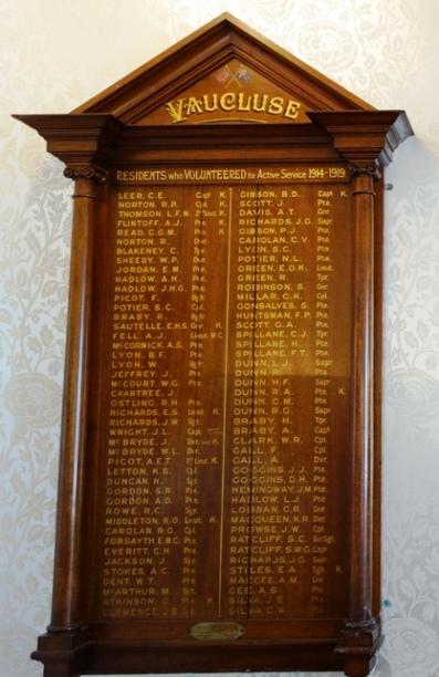 Vaucluse Honour roll
