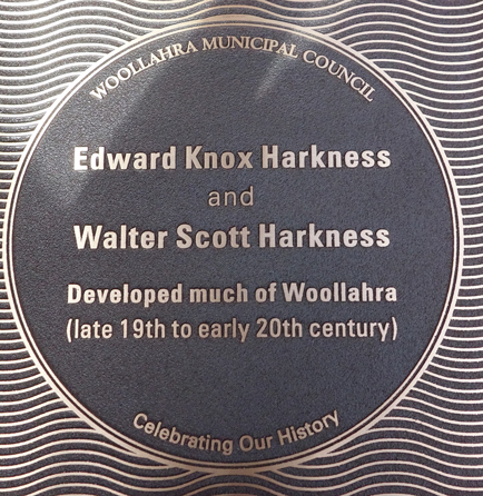 Edward Knox Harkness and Walter Scott Harkness plaque