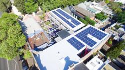 Apartment Block with Solar Panels