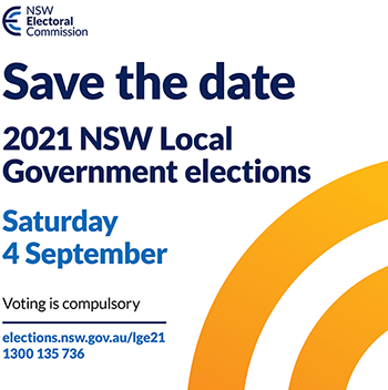 Save the date- Local Government elections 4 September 2021