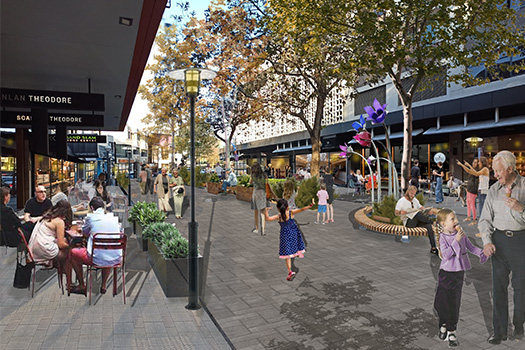 New pedestrianised plaza for Knox Street, Double Bay
