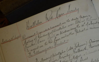 Woollahra Red Cross page from the minutes