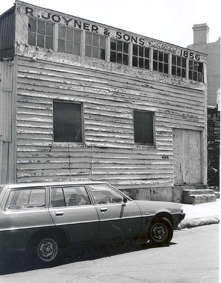 Original 1856 workshop of R. Joyner & Sons, 496 Glenmore Road, Edgecliff, 1982