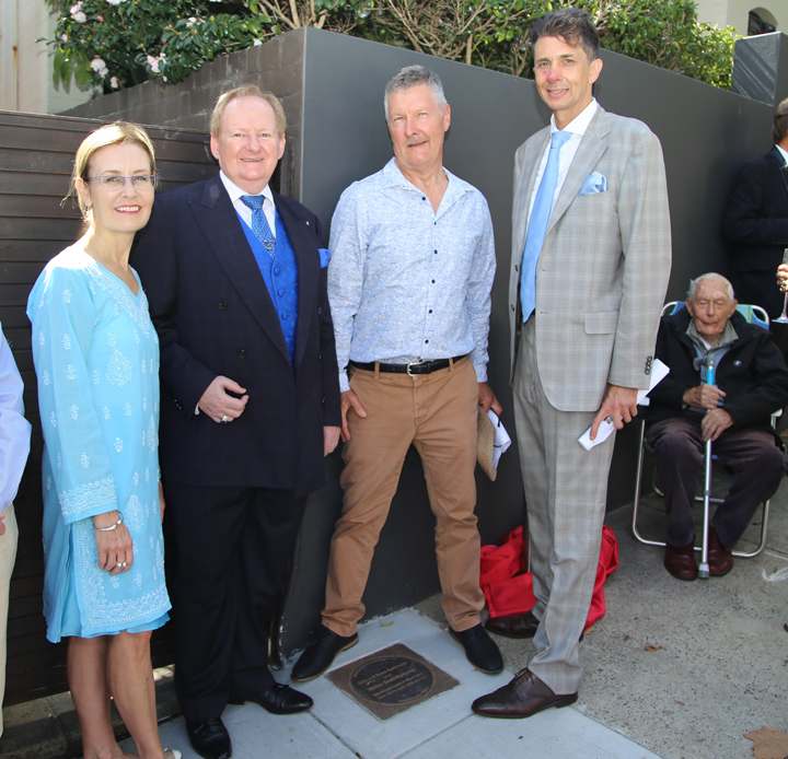 Edward Knox Harkness and Walter Scott Harkness plaque unveiling