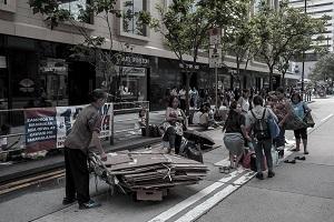 People on street in Hong Kong