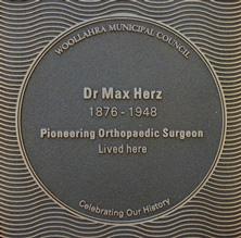 Dr Max Herz plaque