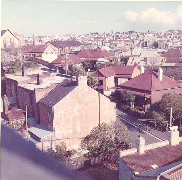 From an album of coloured photographs of Edgecliff dating from the mid 1960s - much of this area was extensively redeveloped during the 1970s with the construction of the Edgecliff Centre and the Edgecliff Interchange. Woollahra Libraries Digital Archive PF004610e.