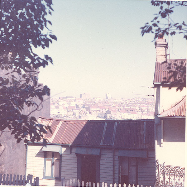 From an album of coloured photographs of Edgecliff dating from the mid 1960s - much of this area was extensively redeveloped during the 1970s with the construction of the Edgecliff Centre and the Edgecliff Interchange. Woollahra Libraries Digital Archive PF004610n.