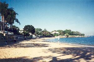 Camp Cove Beach looking towards Green Point, Watsons Bay ca 1996.