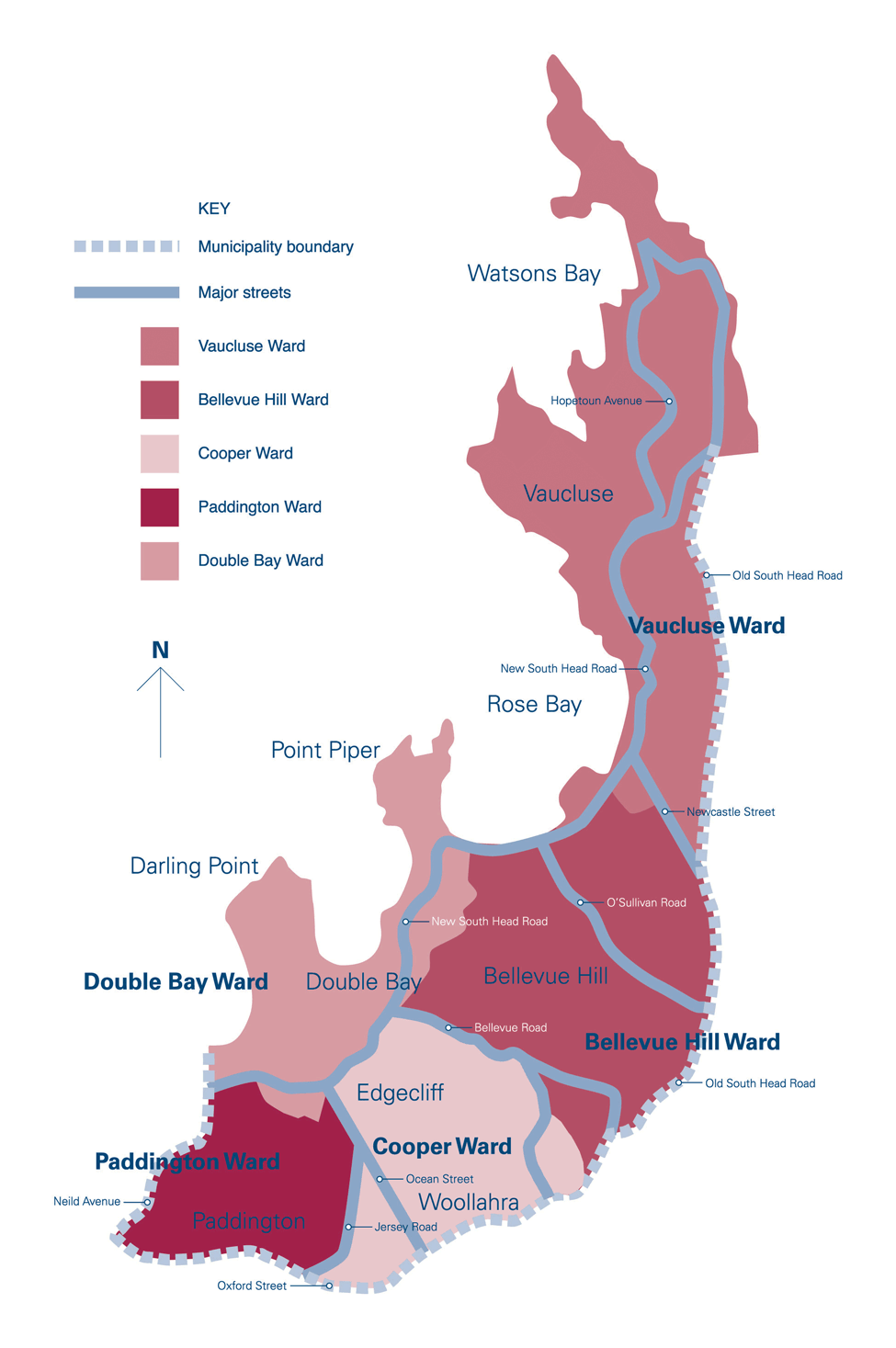Area Covered By Council Woollahra Municipal Council