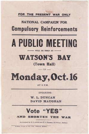 Flyer for Watsons Bay meeting