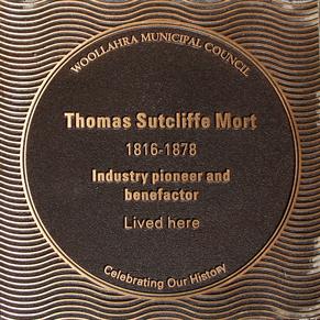 Thomas Sutcliffe Mort plaque