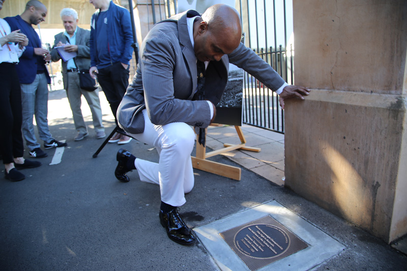 Plaque unveiling  - World Heavyweight Championship title fight 1908 - James White, guest speaker.