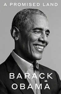 A black and white portrait of Barack Obama