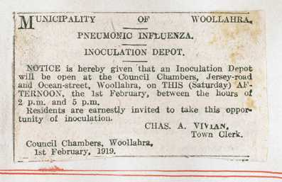 Influenza inoculation ad