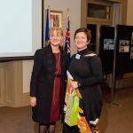 Mayor Toni Zeltzer with 2015 judge Caroline Pidcock