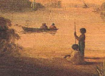 Detail of painting of aborigines