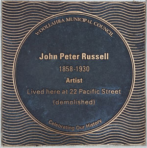 John Peter Russell plaque