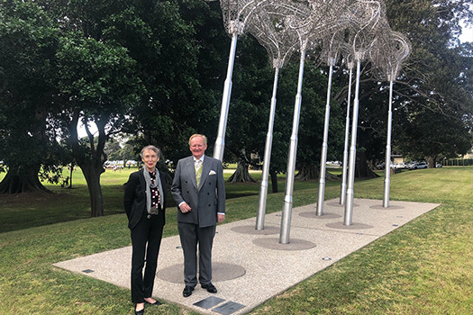 Joanna Capon and Mayor Peter M Cavanagh in Lyne Park, Rose Bay