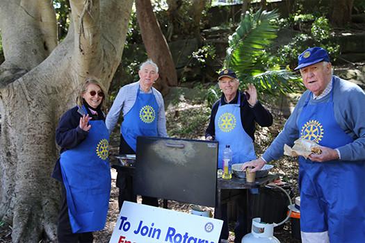 Rose Bay Rotary volunteers - Parsley Bay