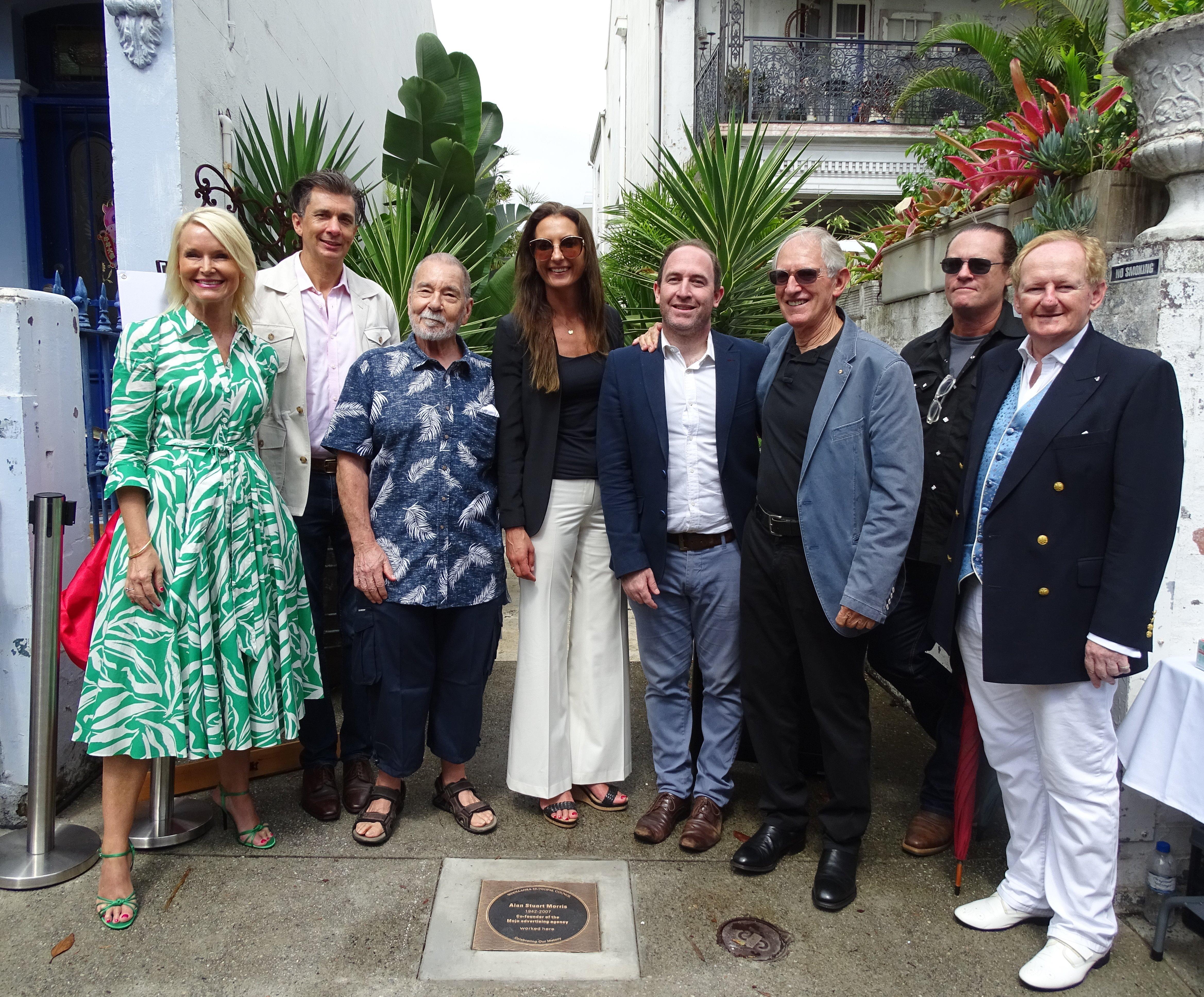 Alan Stuart Morris plaque unveiling