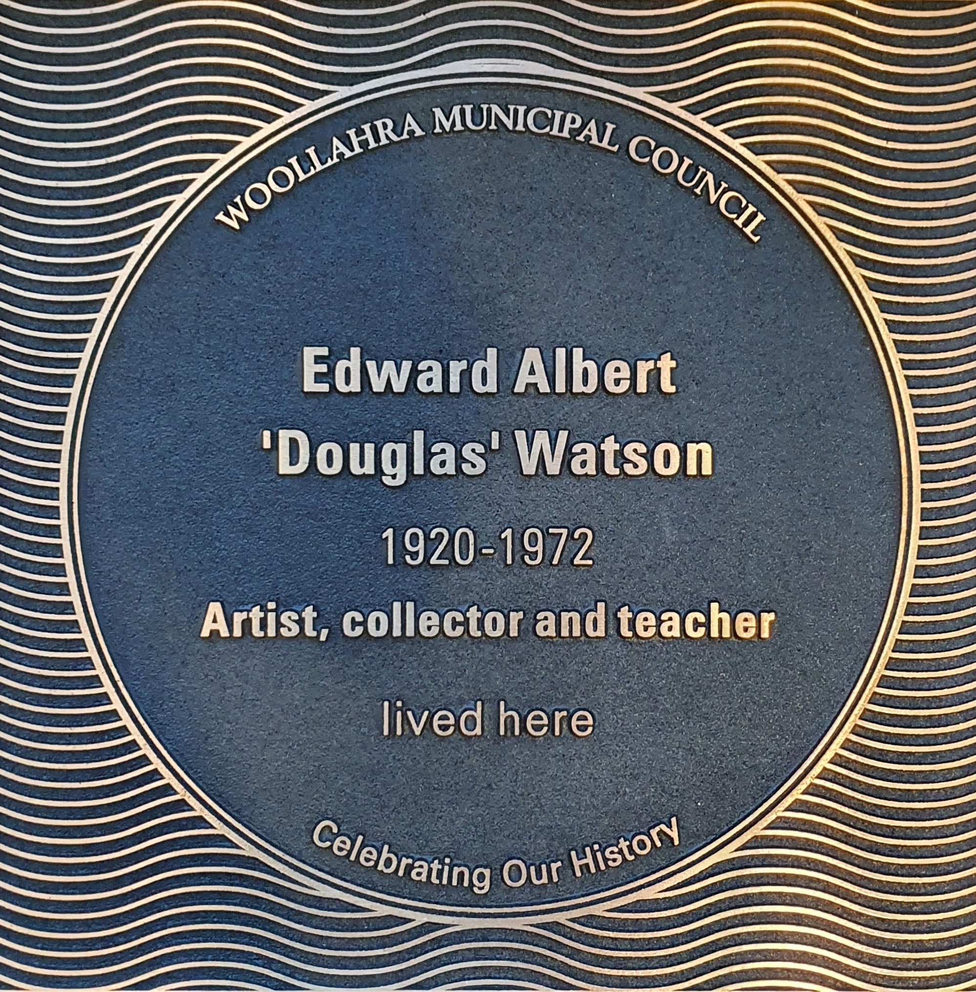 Edward Albert 'Douglas' Watson plaque