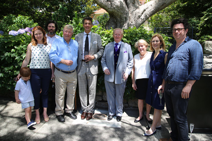 Mayor of Woollahra Peter M Cavanagh, Clr Anthony Marano,  Hon. Gabrielle Upton, and Herz family members.