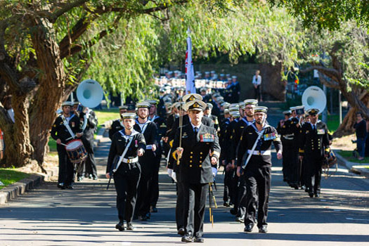 Freedom of Entry Parade visits Double Bay