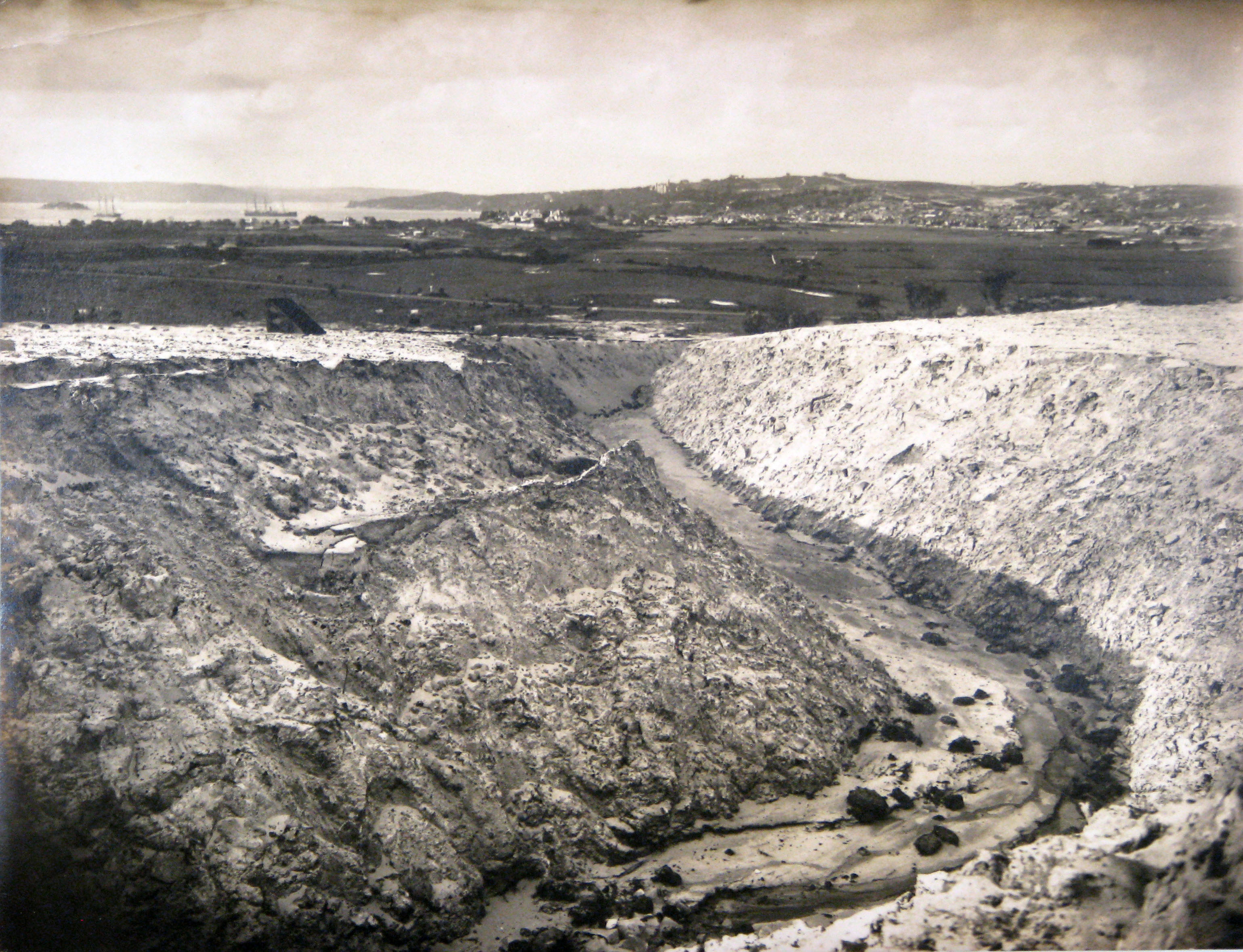 One of a series of photographs taken of the construction of Birriga, Bundarra and Banksia Roads, and Benelong Crescent, formed as part of the Bellevue Hill Bondi Estate, a subdivision of the Point Piper Estate. Woollahra Libraries Digital Archive PF004648c