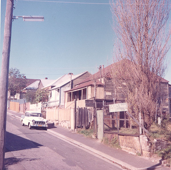 From an album of coloured photographs of Edgecliff dating from the mid 1960s - much of this area was extensively redeveloped during the 1970s with the construction of the Edgecliff Centre and the Edgecliff Interchange. Woollahra Libraries Digital Archive PF004610h.