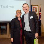 Mayor Toni Zeltzer with 2015 judge Michael Heenan