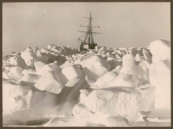 """The Endurance"" (ship) frozen in the Weddell Sea"