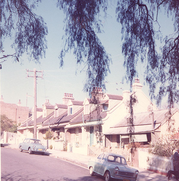 From an album of coloured photographs of Edgecliff dating from the mid 1960s - much of this area was extensively redeveloped during the 1970s with the construction of the Edgecliff Centre and the Edgecliff Interchange. Woollahra Libraries Digital Archive PF004610i.