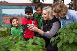 Kids using app