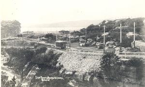 Postcard of trams at Watsons Bay ca. 1908-9