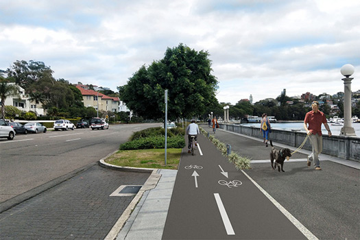 Cycleway to improve safety on New South Head Road
