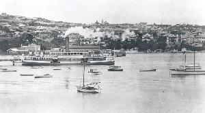 Ferry at Watsons Bay Wharf, date unknown