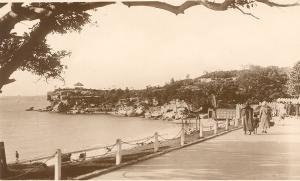 Postcard of Nielsen Park walkway