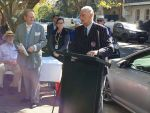 Alan Kippax plaque unveiling - Mayor Peter Cavanagh and Phil O'Sullivan OAM