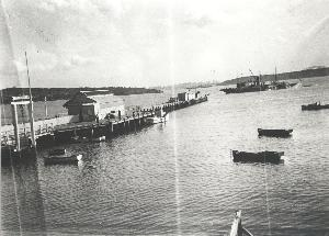 The extended wharf, during World War II
