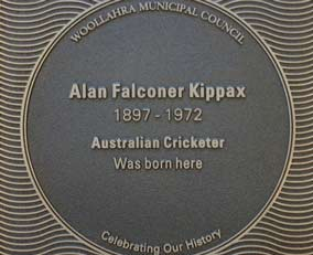 Alan Falconer Kippax plaque