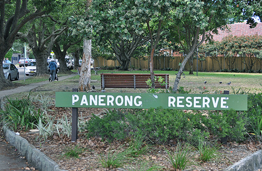 Pannerong Reserve - sign